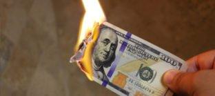 שטר של דולר נשרף