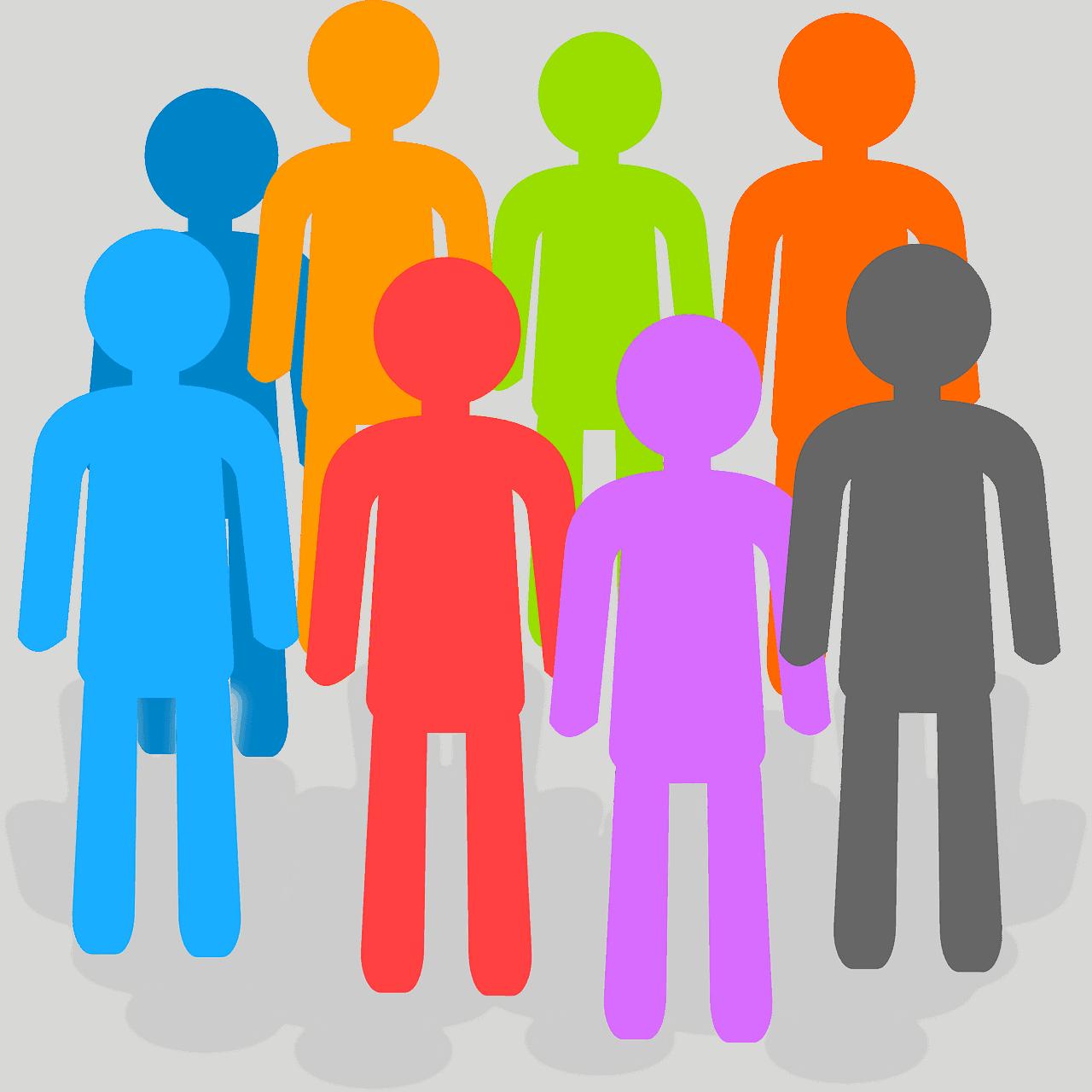 איור של קבוצת אנשים מאוגדים