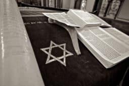 מגן דוד וספרים פתוחים